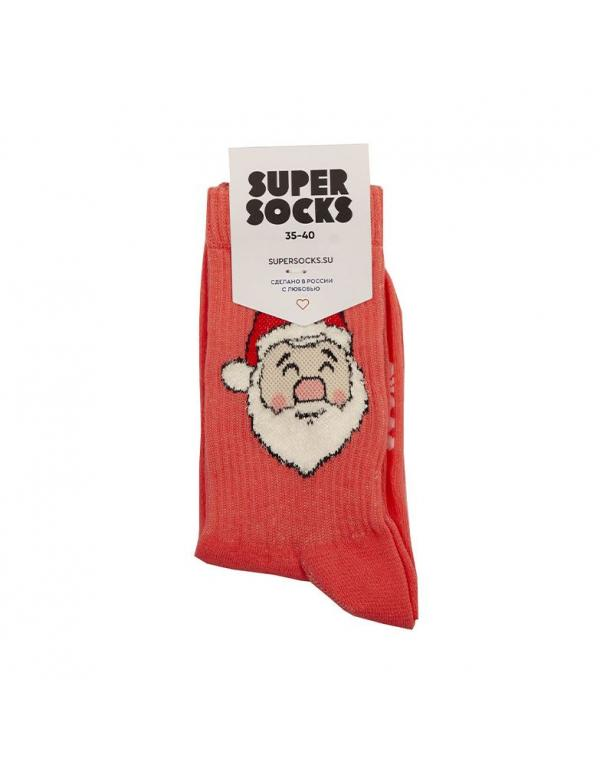 Носки SUPER SOCKS Дед Мороз 35-40 - В наличие